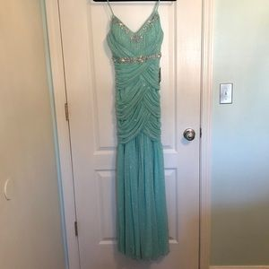 Sea foam prom dress
